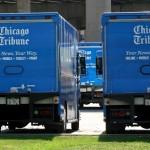 "Chicago, Illinois. Камиони за разпространение на вестник ""Чикаго Трибюн"", в ситито на Чикаго. Снимка: Иван Бакалов"