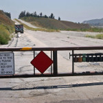 Краят на стария Път 66, малко преди Лос Анджелис. По-нататък пътят не е поддържан и е преградено. Снимка: Иван Бакалов