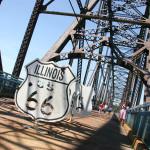 St. Louis - Old Chain Of Rocks Bridge. Старият мост на Път 66 край Сейнт Луис. По средата на моста е границата между щатите Илинойс и Мисури. Снимка: Иван Бакалов