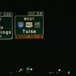 Нощем по магистралата към Оклахома. Снимка: Иван Бакалов