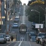 Улица в Сан Франциско с градското трамвайче - кейбъл кар. Снимка: Иван Бакалов